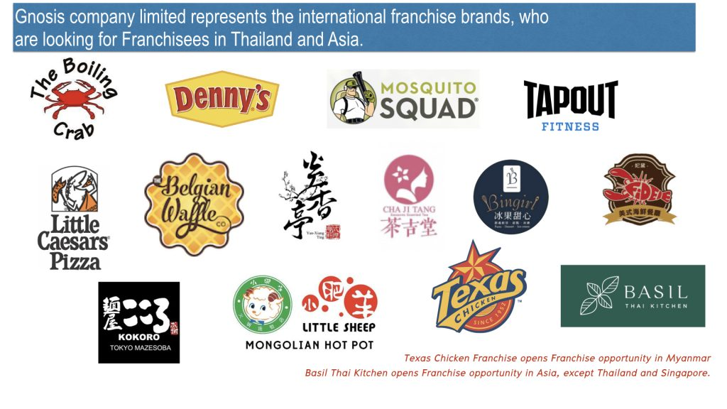 International Franchise Brands are available for expanding in Asia.