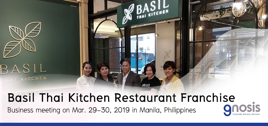 Basil thai Kitchen looks for master franchisee in Philippines